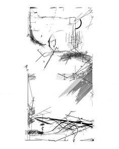 PARTI DRAWING  A parti model is the basic layout of one's initial ideas for a building program. It helps the designer articulate fundamental ideas before an overall concept can be set in stone. This parti sketch is a part of Daniel Libeskind's Chamber Works, a set of 28 drawings done while he was serving at the Architecture Department at Cranbrook Academy of Art in Bloomfield Hills, Michigan, in 1983.