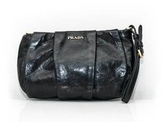 Looks like it has never been worn: The exterior leather is clean and beautiful with Elegant Outfit, Elegant Dresses, Wedding Wear, Prada, Leather, Bags, Accessories, Beautiful, Fashion
