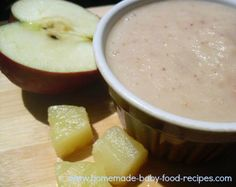 Cool and Creamy Coconut, Apple and Pineapple Puree  From: blog.homemade-baby-food-recipes.com