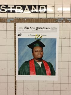 A Teenager with Promise at the Nostrand Avenue subway stop in Bedford Stuyvesant, Brooklyn.