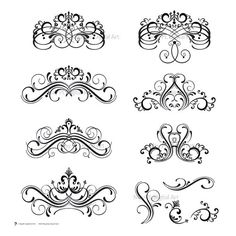 Damask Digital Clip Art Clipart Flourish Swirls by MayPLDigitalArt, $5.50