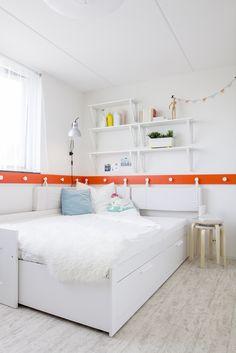 BRIMNES bedbank met 2 lades | #IKEA #LangLeveVerandering #IKEAnl #student #werkplek #slaapkamer #woonkamer #slaapbank #bed