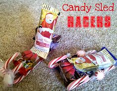 Need a fun Christmas Party Idea or new tradition with your family? Candy Sled Races are one of our favorite things to do with our family each Christmas. It gets pretty competitive... like a Christmas Pinewood Derby!