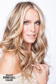 Beachy Bombshell Hair with Molly Sims + Her New Book!