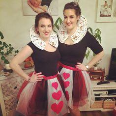 #Herzkönigin#Fasching#Karneval#queenofhearts#Alice#im#Wunderland#nähen#diy#stoff#tüll#best#friend #outfit