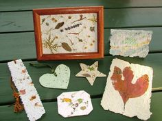 Turn scrap paper into one-of-a-kind, handmade paper projects with flower petals, leaves and even seeds from your garden.