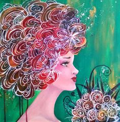 """arts of hearts: """"Lady Flower"""""""