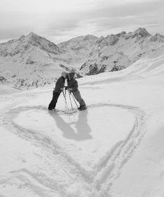 raquette à neige en amoureux