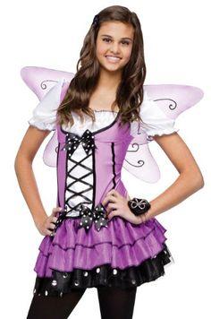 Fun World Junior Teen Girls Purple Butterfly Fairy Halloween Costume 0-9 Fun World Costumes  sc 1 st  Pinterest & Blue Belle Fairy Costume For Teens or Girls! #halloween ...