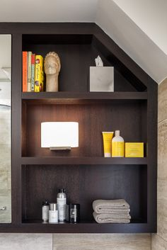 efficient use of space with this bathroom shelving bathroom design by astro ottawa - Bathroom Design Ottawa