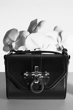 Black leather silver hardware