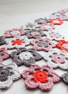 Flower-scarf for little girl