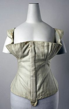 1830s corset, American or European, Metropolitan Museum, NY