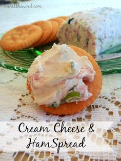 Cream Cheese & Ham S Cream Cheese & Ham Spread. Cream Cheese & Ham S Cream Cheese & Ham Spread Cream Cheese & Ham S Cream Cheese & Ham Spread its a simple and delicious appetizer or snack It takes only a few minutes to whip this up! Yummy Appetizers, Appetizer Recipes, Snack Recipes, Cooking Recipes, Appetizer Ideas, Shower Appetizers, Avocado Recipes, Cheese Recipes, Salad Recipes