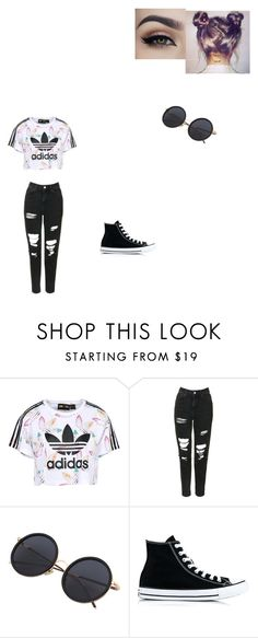 """Untitled #504"" by melissaperez427 on Polyvore featuring adidas Originals, Topshop and Converse"