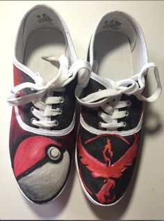 Team Valor Shoes by ShoesbySues on Etsy
