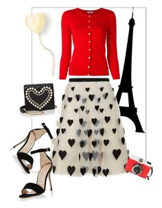 """❤️Valentine❤️"" by memelondon ❤ liked on Polyvore featuring Alice + Olivia, P.A.R.O.S.H., Manolo Blahnik, Edition and Boutique Moschino"