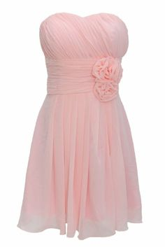 """Short Bridesmaid Dress. - Oh, this would just be perfect with some flowing off shoulder """"straps"""". I would like some tiny details as well in order to add some extra beauty."""