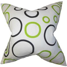 Curran Geometric Cotton Throw Pillow