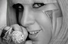 Lady Gaga - Photo Realistic Drawings from a Novice Artist, Rajacenna. Come and see her videos on our site. More info & more images from this Artist, Press the Image.