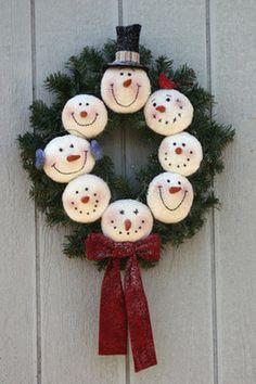 snowman wreath #2