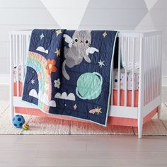 Shop Dreaming of Space Crib Bedding. This outer-spaced themed crib bedding is the best in the galaxy.