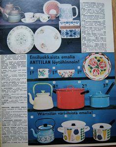Kaikkea kaunista menneiltä ajoilta. Old Commercials, Good Old Times, Old Toys, Ancient History, Vintage Ads, Irene, Kitchenware, Finland, Childhood Memories