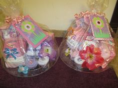Twin diaper carriages. Perfect baby shower gifts.