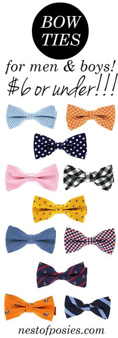 Bow Ties for Boys or Men!  Perfect for Spring or Easter.  $6 or under!!!