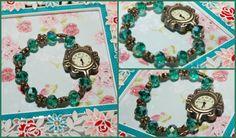 GREEN SPARKLES WATCH Sparkles, Charmed, Watches, Retro, Bracelets, Green, Jewelry, Jewlery, Wristwatches
