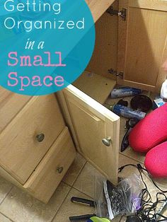 getting organized in a small space