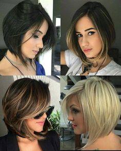 Olha que arraso mulherada, inspire-se! Bob Hairstyles For Fine Hair, Pretty Hairstyles, Easy Hairstyles, Brown Blonde Hair, Brunette Hair, Cortes Pixie Cut, Short Hair Cuts, Short Hair Styles, Haircut Styles For Women