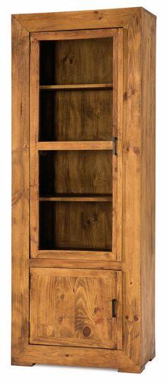 1000 images about vitrinas r sticas on pinterest puertas - Muebles de pino rusticos ...