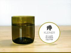 KLEINER / Ø 7-7,5CM / OLIVGRÜN (Glas / Becher) von Gläserne Transparenz auf DaWanda.com