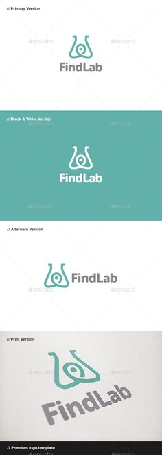 Find Lab Logo (AI Illustrator, Resizable, CS, app, application, brand, branding, business, chemical, chemistry, corporate, find, finder, gps, hardware, lab, laboratory, local, locator, logo, logotype, map, maps, pin, pipette, position, quit, science, search, software, tube)
