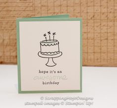 Scrapping Mojo - Stampin' Up! Card: Endless Birthday Wishes; Pool Party