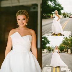 "#AmsaleBride Amanda wearing our ""Lauren"" gown.   (Photo: Sarah Der Photography via Bride Wars)"