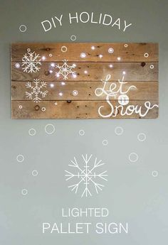 See how this blogger creates an EASY handmade Lighted Pallet Sign for the Holidays. Pin this DIY Christmas Gift, for a warm and cozy Christmas!
