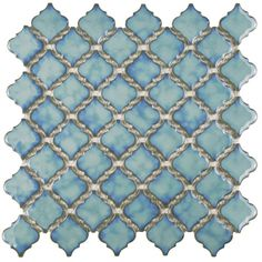 SomerTile 13x13.375-inch Antaeus Marine Porcelain Mosaic Floor and Wall Tile (Case of 10) - Overstock™ Shopping - Big Discounts on Somertile Floor Tiles