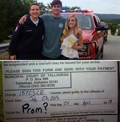 """Cutest way to ask a girl to prom! Have a police officer pull her over and give her a ticket!"" I would be crying from being pulled over, and I would be pissed when I found out it was fake. Dance Proposal, Homecoming Proposal, Homecoming Mums, Proposal Ideas, Girl Ask Guy, Girls Ask, Dating Memes, Dating Quotes, Asking To Prom"