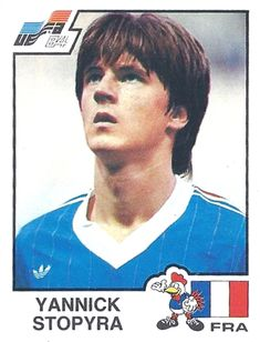 Panini Football World - France 1984 Euro Cup - Yannick Stopyra - France World Cup, Euro, 1984, Football, Baseball Cards, Sports, France, Soccer, Hs Sports
