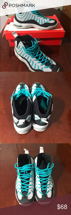 info for 2cfea 0f7e3 Nike shoes Air Bakin (Gs) size 6.5Y Gently used turbo green and wolf
