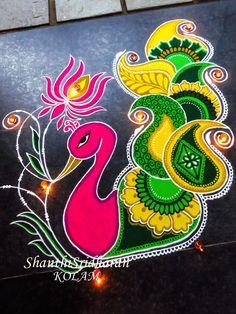 #peacockimage #peacockabstract #peacocksketch #peacocktatoo #beautifulpeacock #colourfulpeacock #kolam #rangoli #peacockcolour #colourfulpeacock Simple Rangoli Designs Images, Rangoli Designs Diwali, Kolam Rangoli, Beautiful Rangoli Designs, Kolam Designs, Rangoli Colours, Rangoli Patterns, Rangoli Ideas, Peacock Rangoli