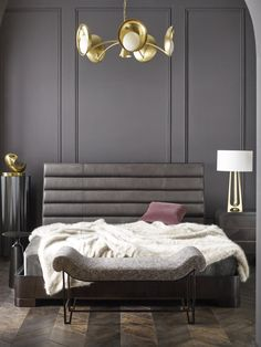 Jean Louis Deniot has perfected Parisian #glam with this moody #bedroom design