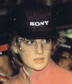 On April 7, 1982, Diana, Princess of Wales wore protective eyewear when she visited the new Sony UK plant in Bridgend Mid-Glamorgan, Wales. It was her last public appearance before the birth of her first child that was expected in June.