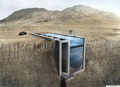 절벽에 심은 아름다운 집, 건축비용은 얼마나 될까?(사진)