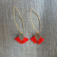 Casual Classic Summer Jewelry: Tassel Hoop earrings.