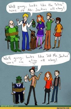 A helpful guide to the difference between Scooby Doo and Doctor Who.