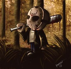 Explore the Jason collection - the favourite images chosen by PebblesInMyPockets on DeviantArt. Horror Icons, Horror Art, Horror Movies, Jason Voorhees, Friday The 13th, Creepy, Darth Vader, Deviantart, Halloween