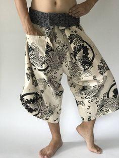 Samurai pants with Unique Hilltribe fabric Wrap Around (M/L size) Samurai Pants, Unique Fashion, Womens Fashion, Diy Fashion, Long Maxi Skirts, Linen Trousers, Fashion Pants, Cotton Skirt, Aesthetic Clothes
